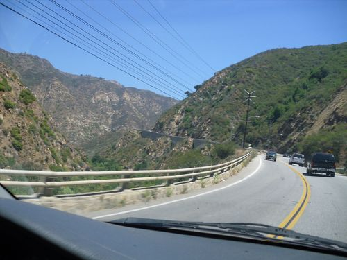 The Winding Malibu Canyon Road