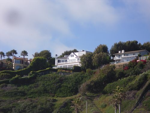 Houses on the Cliff Above Point Dume