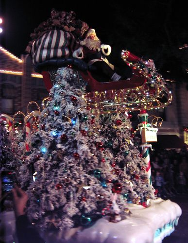 Santa In The Christmas Parade