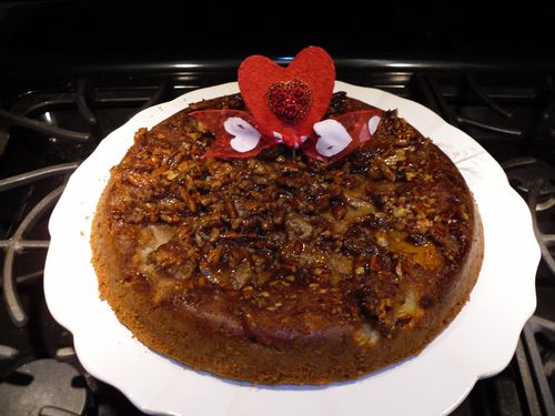 Upside Down Caramelized Apple Cake