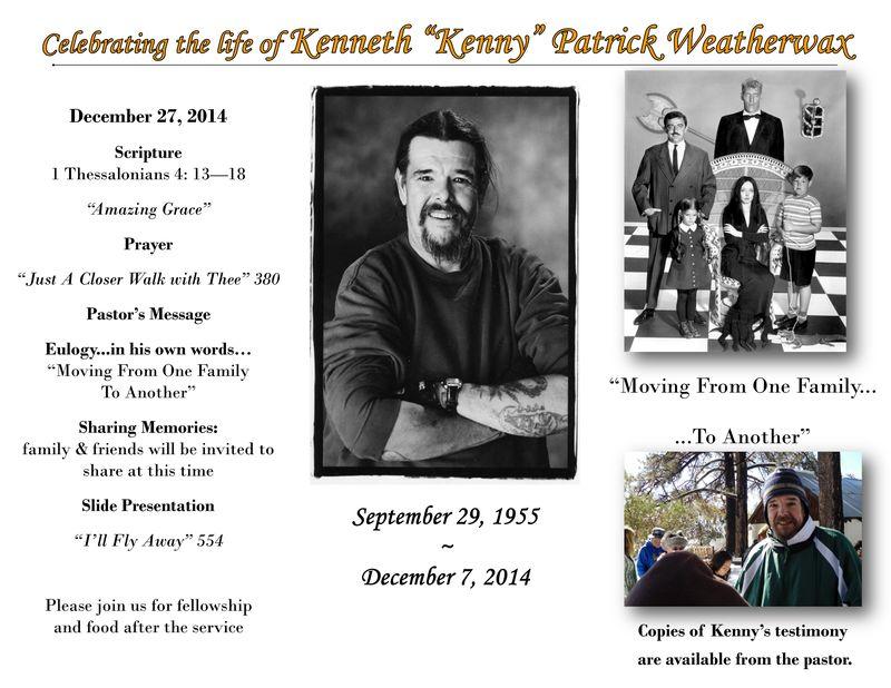 Ken Weatherwax Memorial Brochure